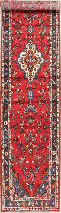 Vintage Floral Red Lilian Persian Runner Rug 3x13