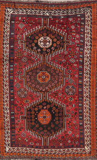 Antique Tribal Red Lori Persian Area Rug 5x8