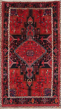 Tribal Geometric Zanjan Persian Wool Rug 5x8