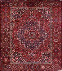 Floral Red Bakhtiari Persian Wool Area Rug 10x12