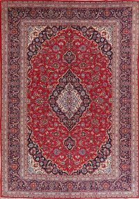 Traditional Floral Red Kashan Persian Area Rug 9x12