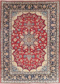 Vintage Red Floral Najafabad Persian Area Rug 10x13