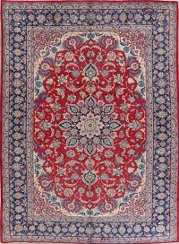 Traditional Floral Red Najafabad Persian Area Rug 9x13