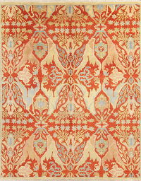 Red Rust Art & Craft Indian Oriental Wool Area Rug 8x10