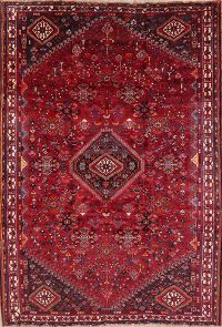 Vintage Tribal Red Lori Persian Wool Rug 6x8