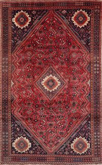 Tribal Red Lori Persian Wool Area Rug 6x9