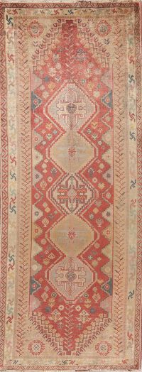 Antique Tribal Red Abadeh Nafar Persian Runner Rug 3x9