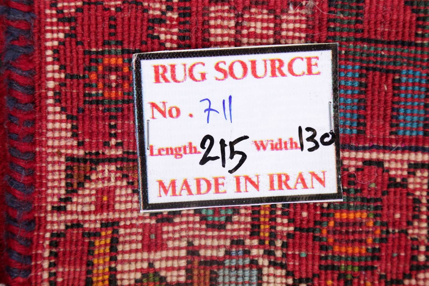 Vintage Red Pictorial Shiraz Persian Wool Rug 4x7 image 21