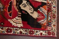 Vintage Red Pictorial Shiraz Persian Wool Rug 4x7 image 15