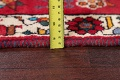 Vintage Red Pictorial Shiraz Persian Wool Rug 4x7 image 6