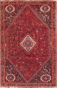 Vintage Red Tribal Shiraz Persian Wool Area Rug 6x9