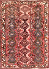 Vintage Geometric Shiraz Persian Wool Rug 6x8