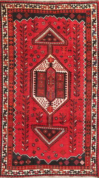 Tribal Red Lori Persian Wool Area Rug 5x9
