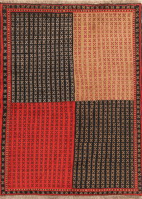 All-Over Balouch Afghan Oriental Wool Rug 4x6