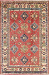 Red Super Kazak Oriental Wool Rug 6x9