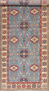 Light Blue Super Kazak Oriental Wool Runer Rug 6x14