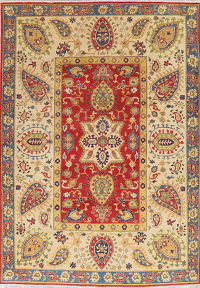 Red Super Kazak Oriental Wool Area Rug 6x9