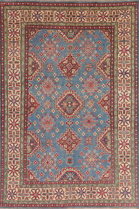 Light Blue Super Kazak Oriental Wool Area Rug 6x9