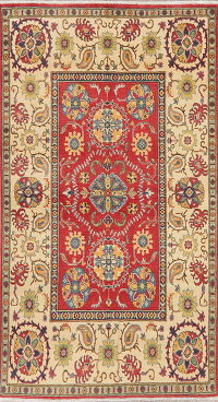 Floral Red Kazak Pakistan Wool Rug 5x7