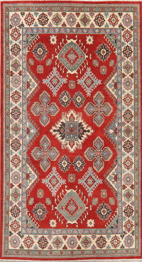 Red Super Kazak-Chechen Oriental Wool Rug 6x9