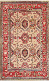 Super Kazak-Chechen Oriental Wool Area Rug 6x10