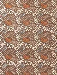 Brown Nature Print Modern Turkish Oriental Wool Rug 8x11