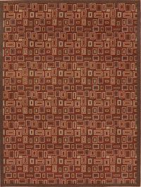 Red All-Over Modern Turkish Oriental Area Rug 8x11