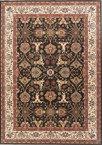 Black Floral Oushak Turkish Oriental Area Rug 8x11