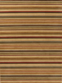 Stripe Modern Turkish Oriental Area Rug 8x11