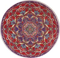 Purple Super Kazak Oriental Round Area Rug 6x6