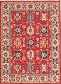 Red Super Kazak-Chechen Oriental Wool Rug 6x8