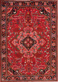 Floral Red Lilian Persian Wool Rug 8x11