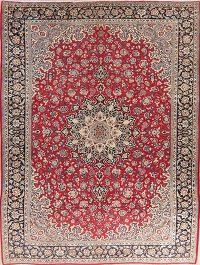 Vintage Floral Red Najafabad Persian Wool Area Rug 10x14