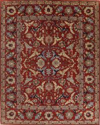 Large Floral Red Heriz Oriental Rug Wool 12x15