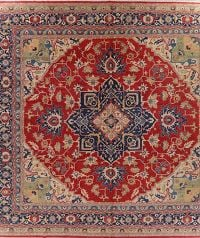 Vegetable Dye Super Kazak Oriental Area Rug 16x16 Square