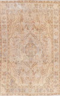 Distressed Tabriz Persian Area Rug 6x10