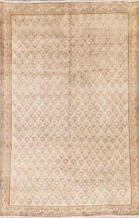 All-Over Vintage Ardebil Persian Distressed Area Rug 7x10