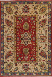 Floral Red Super Kazak Oriental Rug Area 7x10