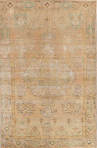 Vintage Muted Distressed Tabriz Persian Area Rug 6x9