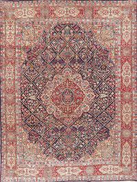 Vintage Floral Kerman Persian Wool Area Rug 10x13