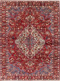 Floral Red Bakhtiari Persian Wool Area Rug 7x11