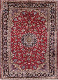 Vintage Floral Red Najafabad Persian Wool Area Rug 9x12