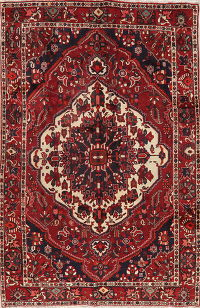 Vintage Red Bakhtiari Persian Wool Area Rug 7x10