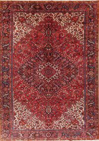 Palace Sized Red Heriz Persian Rug Wool 11x15