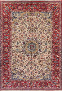 Vintage Floral Isfahan Persian Wool Area Rug 8x11