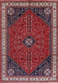 Tribal Red Abadeh Persian Wool Area Rug 8x11