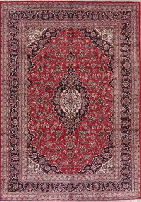 Traditional Floral Red Mashad Persian Area Rug 8x11