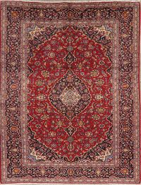Traditional Floral Red Kashan Persian Area Rug 9x11