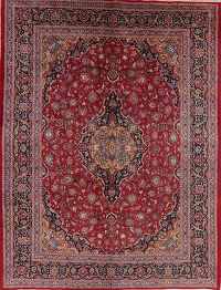 Vintage Floral Red Kashmar Persian Wool Area Rug 10x13