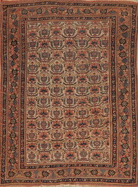Pre-1900 Antique Vegetable Dye Caucasian Kazak Area Rug 4x6